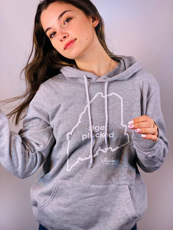 Get Plucked Grey Hoodie Sweatshirt