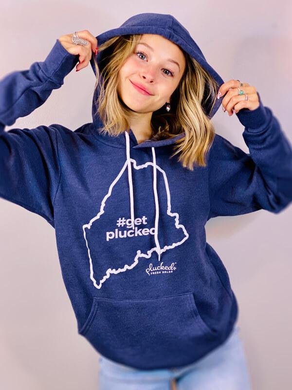 Get Plucked Blue Hoodie Sweatshirt