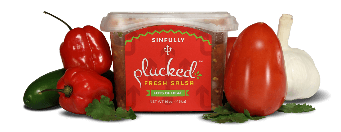 Sinfully Fresh Plucked Salsa with Fresh Vegetables