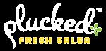 Plucked Fresh Salsa Logo White
